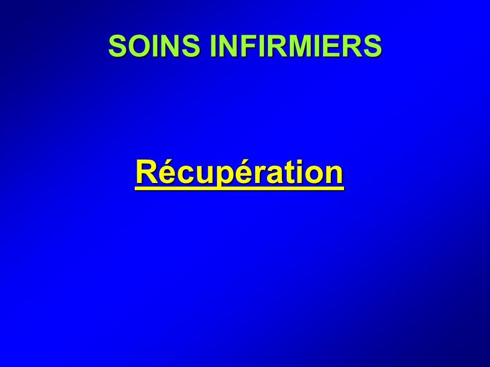 SOINS INFIRMIERS Récupération