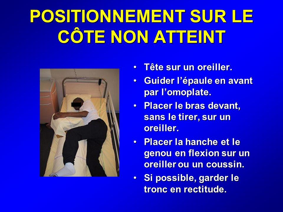 POSITIONNEMENT SUR LE CÔTE NON ATTEINT