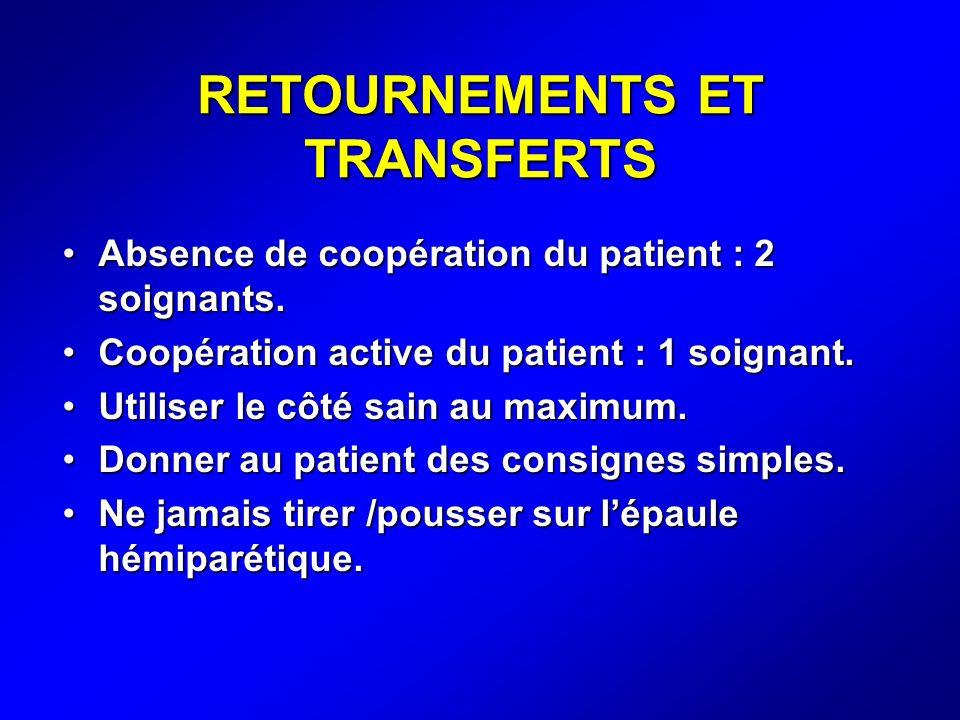 RETOURNEMENTS ET TRANSFERTS