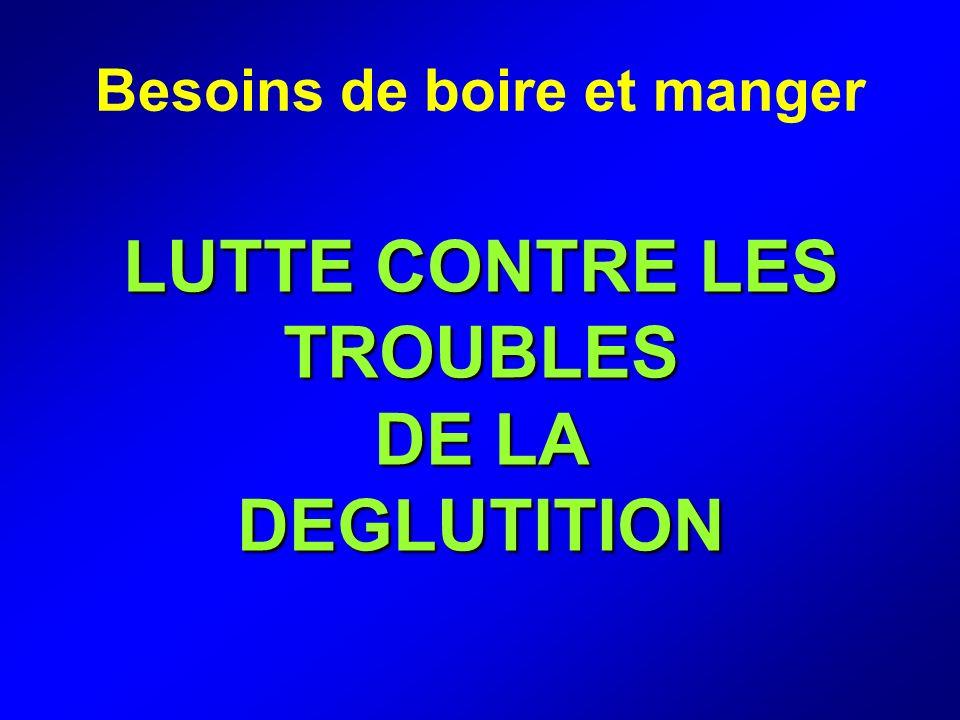 LUTTE CONTRE LES TROUBLES DE LA DEGLUTITION