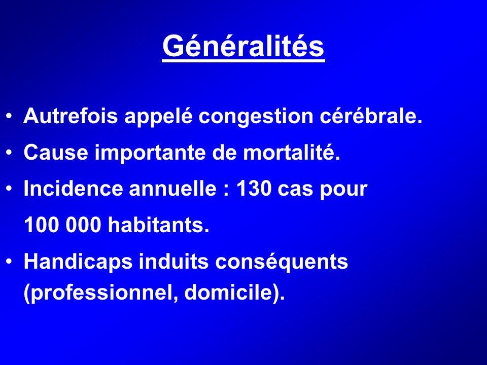 Généralités Autrefois appelé congestion cérébrale.