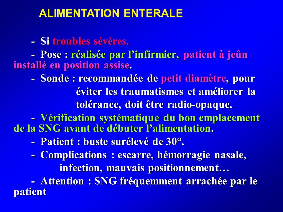 ALIMENTATION ENTERALE