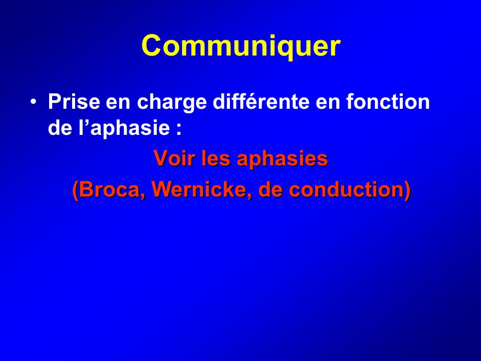 (Broca, Wernicke, de conduction)