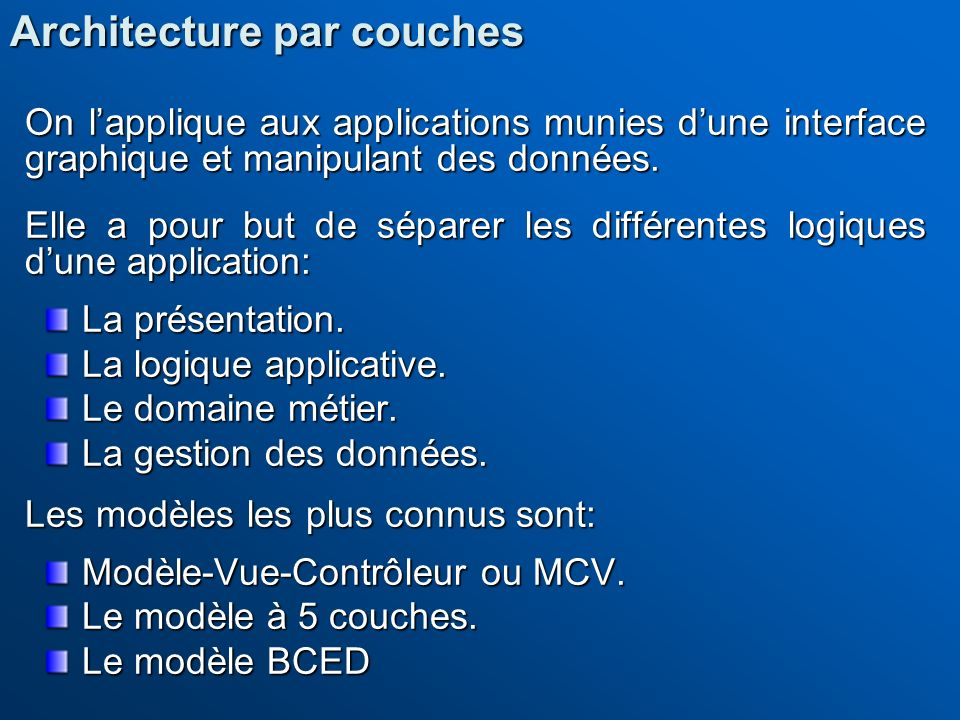 Architecture par couches