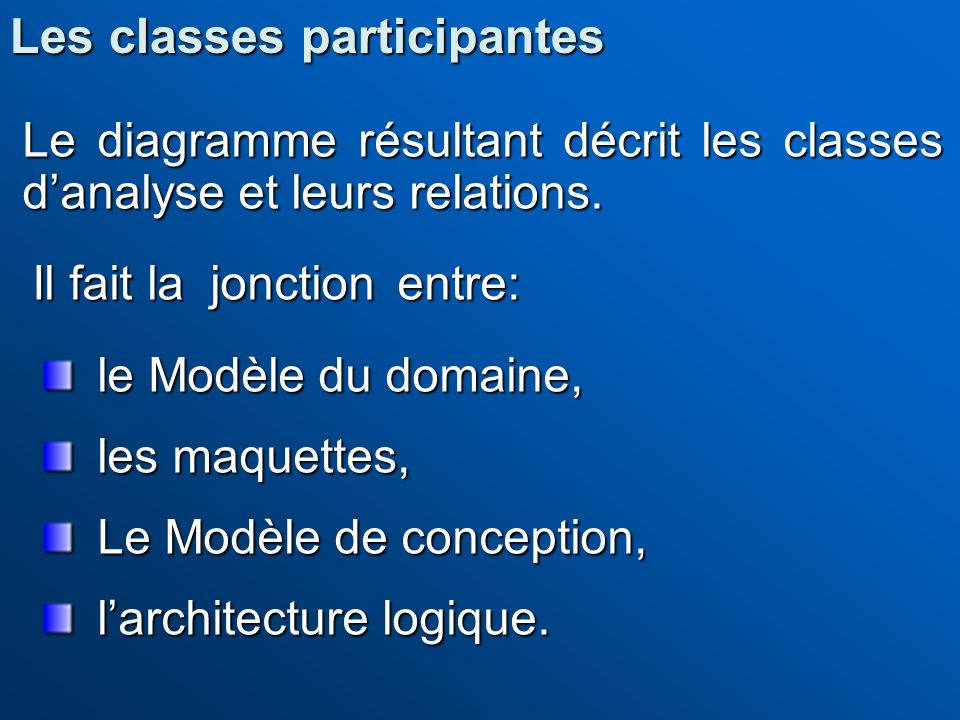 Les classes participantes