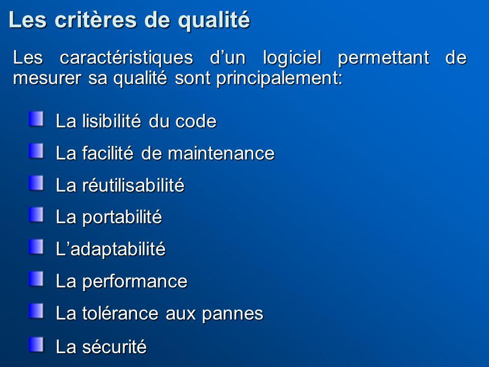 Les critères de qualité