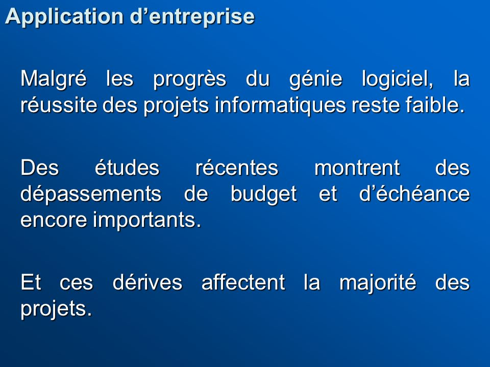Application d'entreprise
