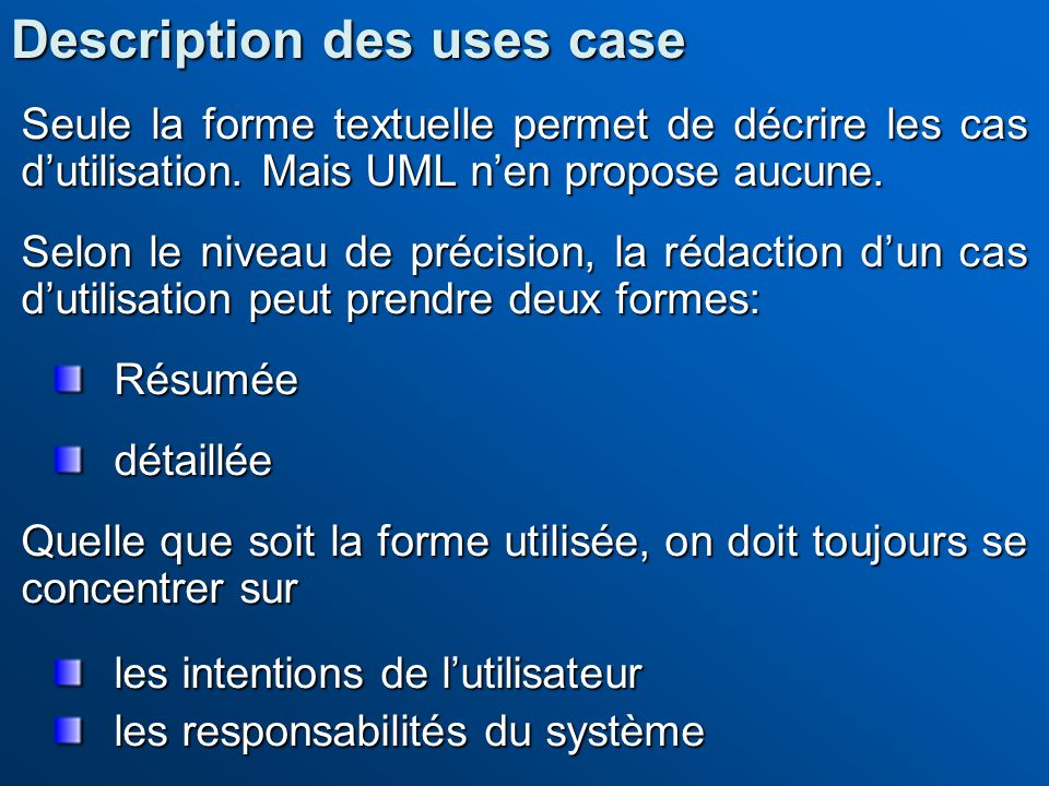 Description des uses case
