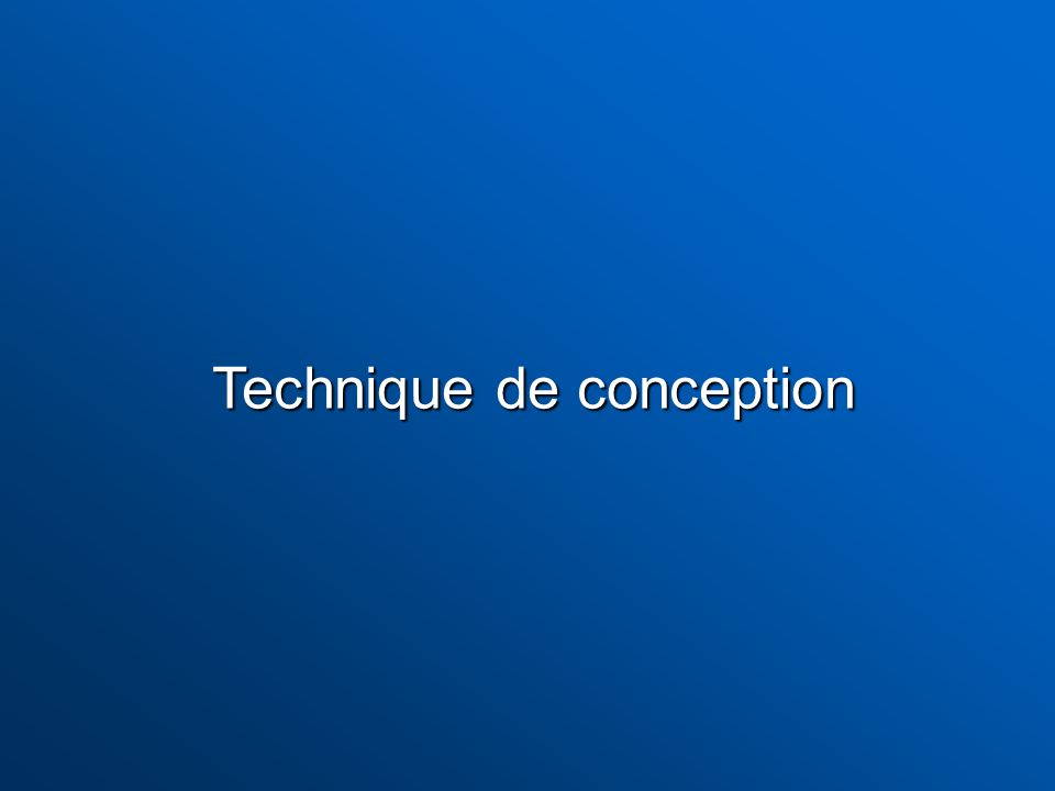 Technique de conception