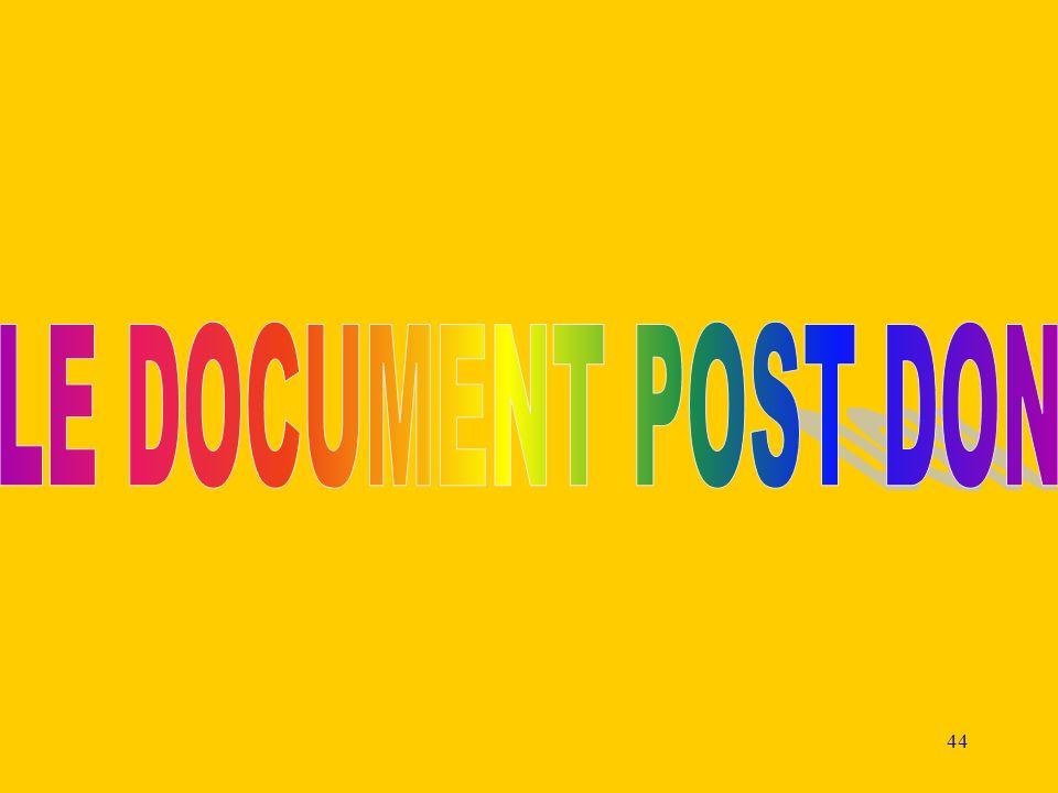 LE DOCUMENT POST DON