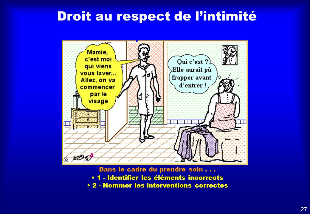 Droit au respect de l'intimité