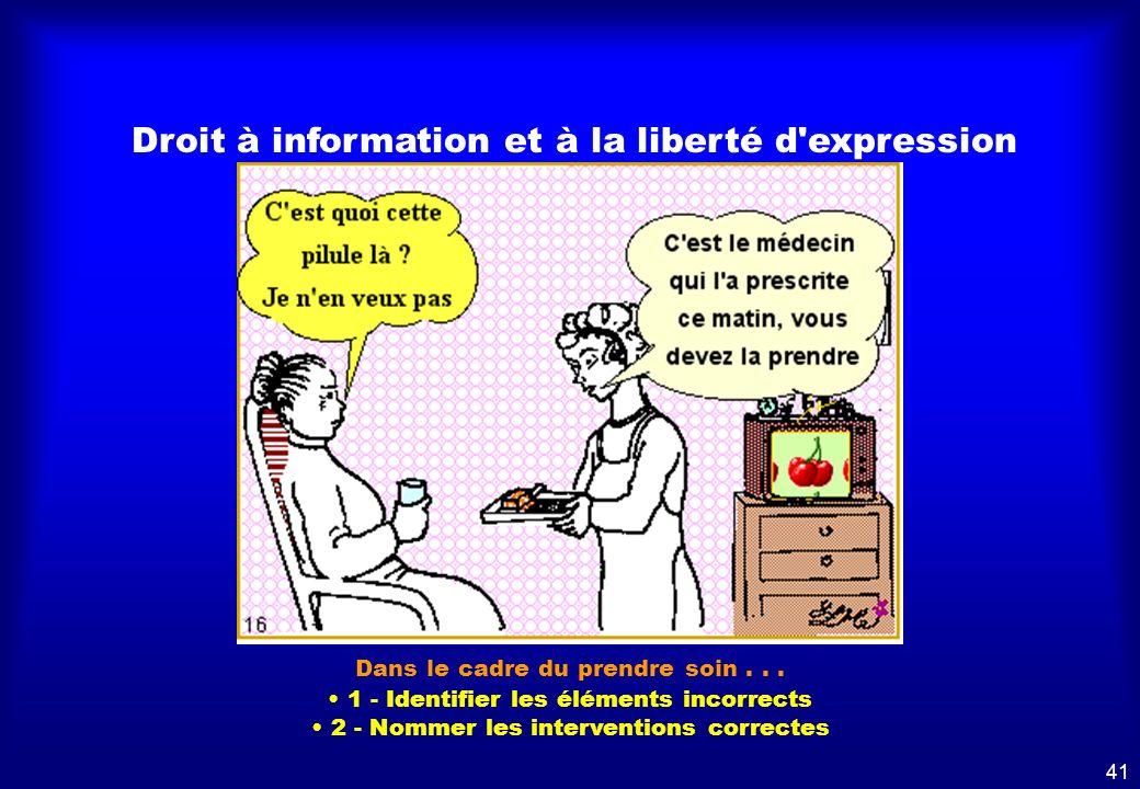 Droit à l'information et à liberté d'expression