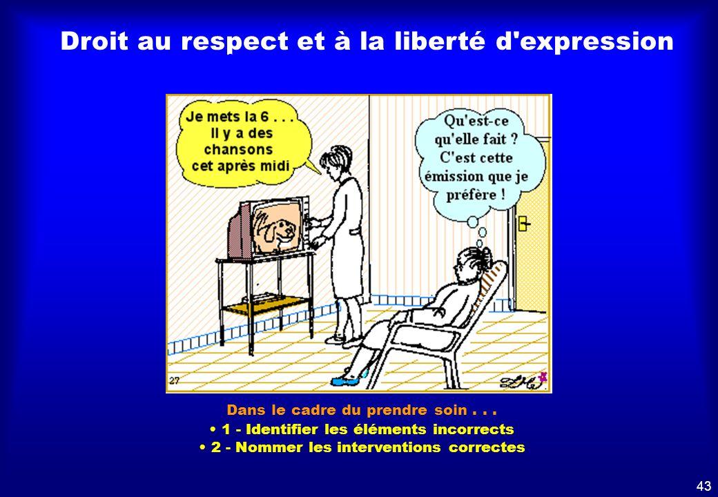 Droit au respect et à la liberté d'expression