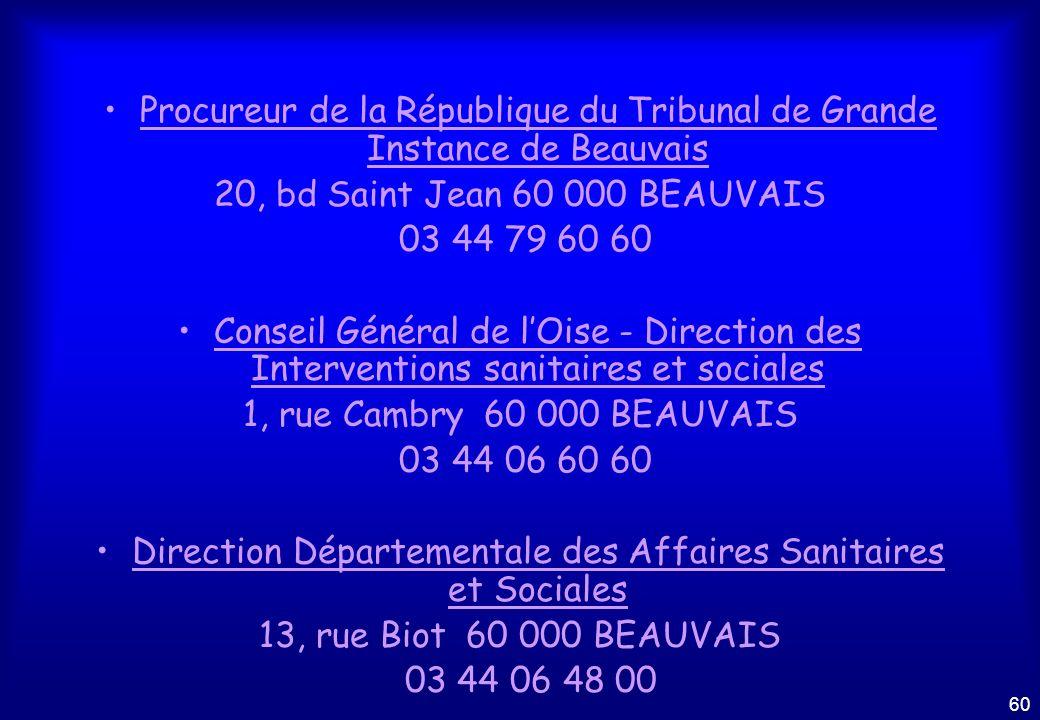 Procureur de la République du Tribunal de Grande Instance de Beauvais