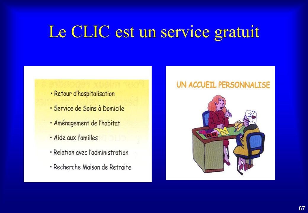 Le CLIC est un service gratuit