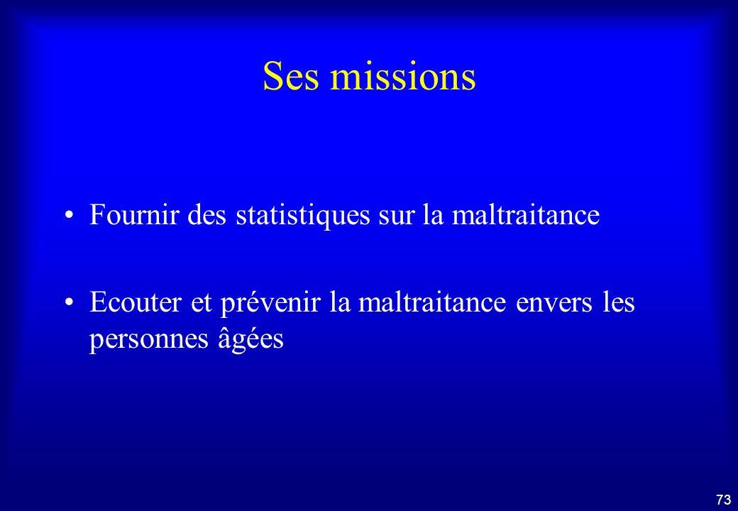 Ses missions Fournir des statistiques sur la maltraitance