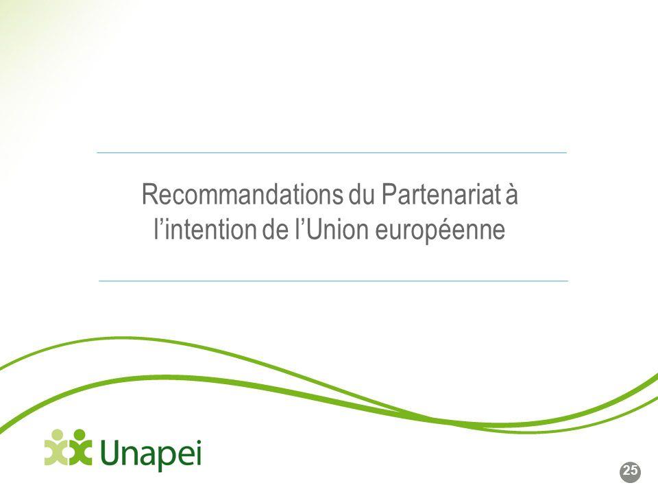 Recommandations du Partenariat à l'intention de l'Union européenne