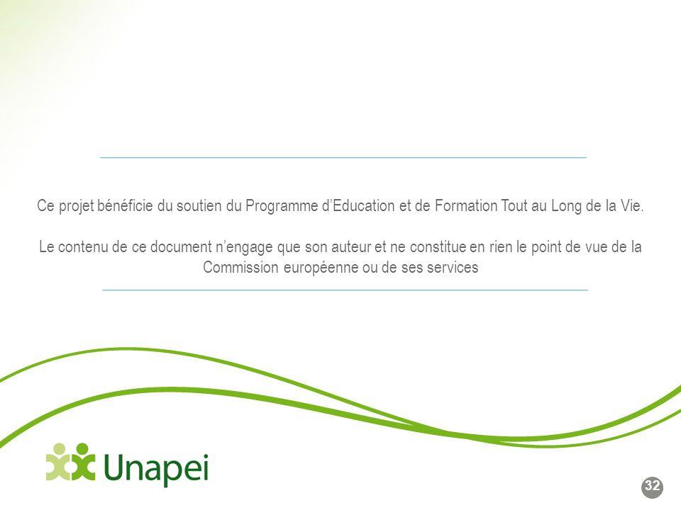 Ce projet bénéficie du soutien du Programme d'Education et de Formation Tout au Long de la Vie.