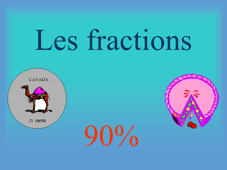 Les fractions 25 cents CANADA 90%
