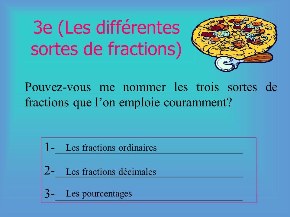 3e (Les différentes sortes de fractions)