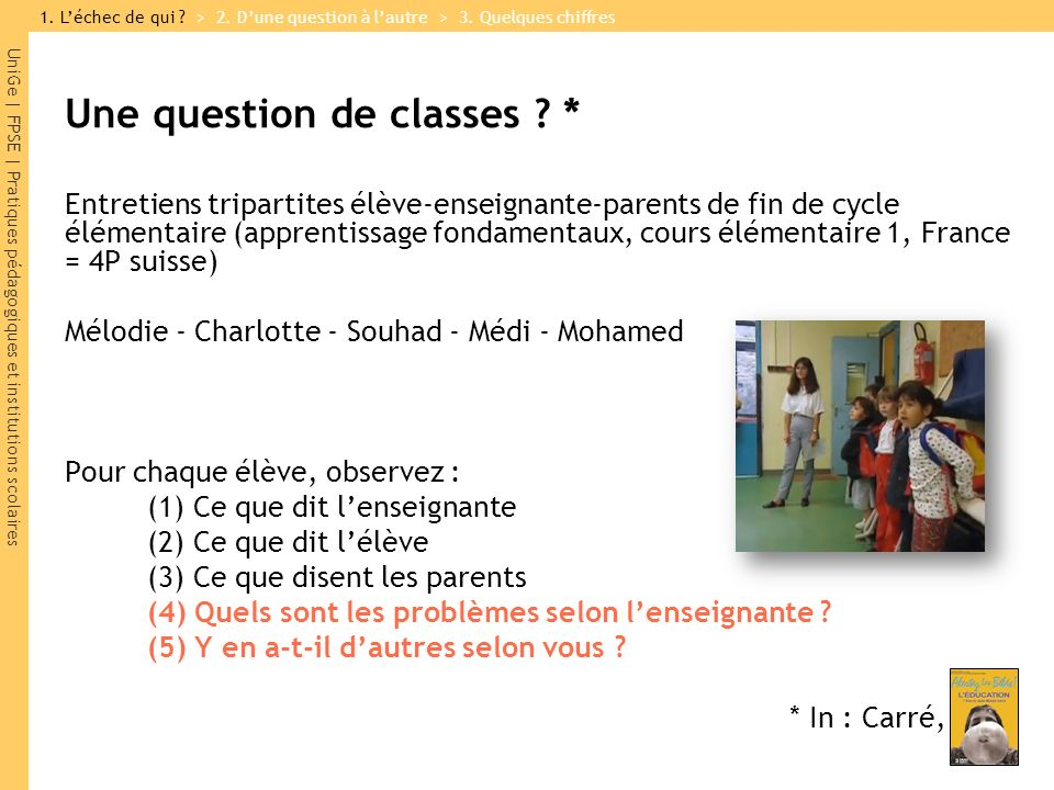Une question de classes *