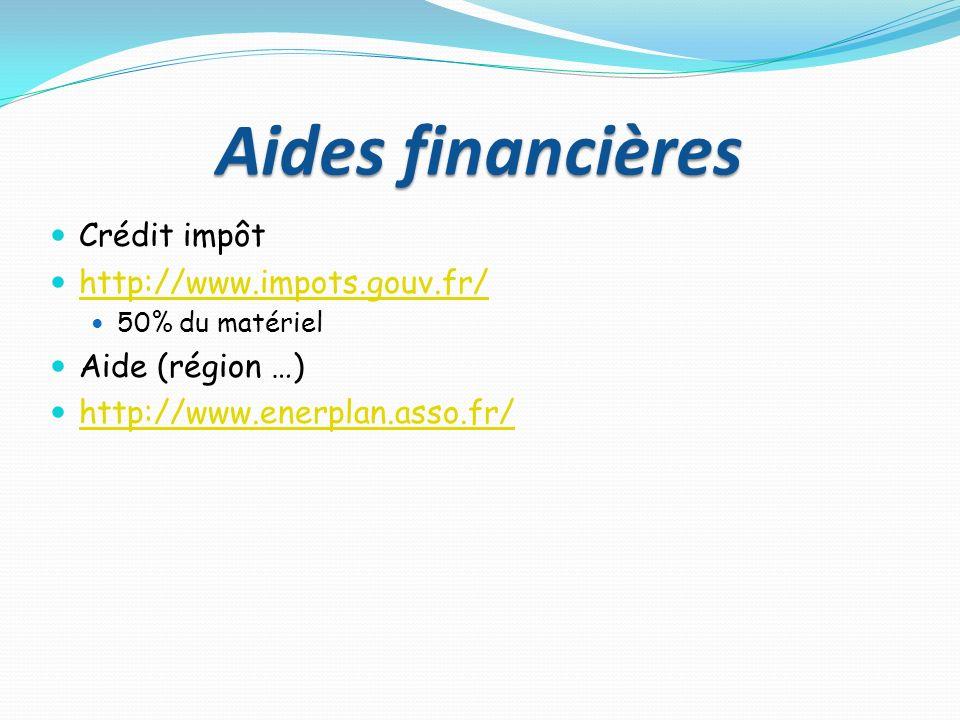 Aides financières Crédit impôt http://www.impots.gouv.fr/