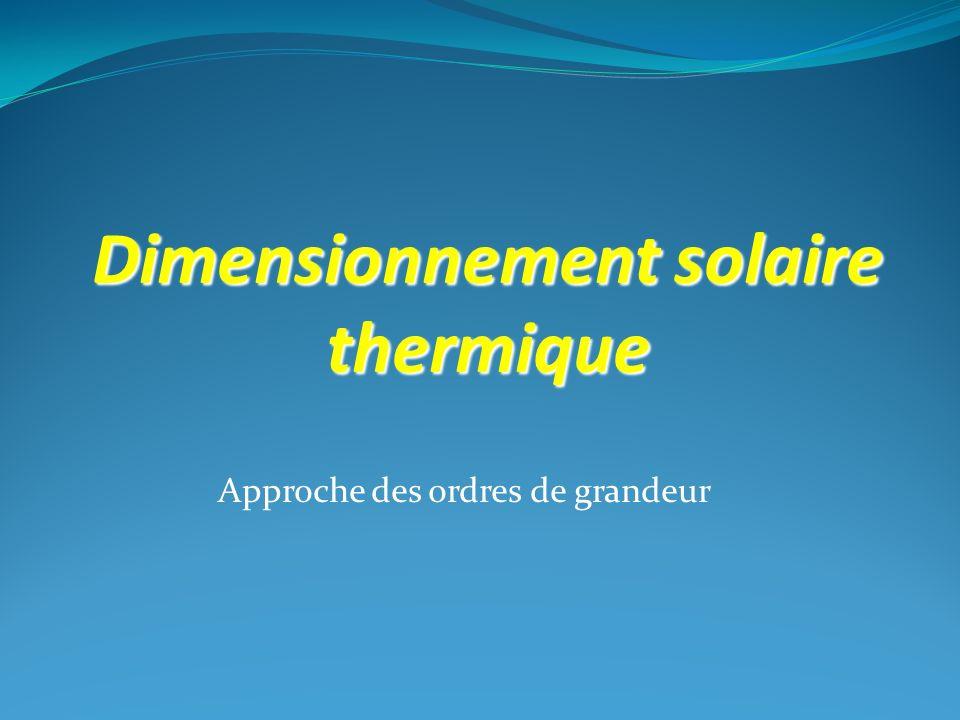 Dimensionnement solaire thermique