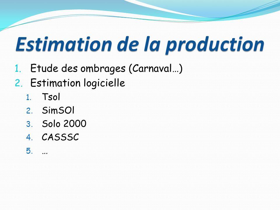 Estimation de la production