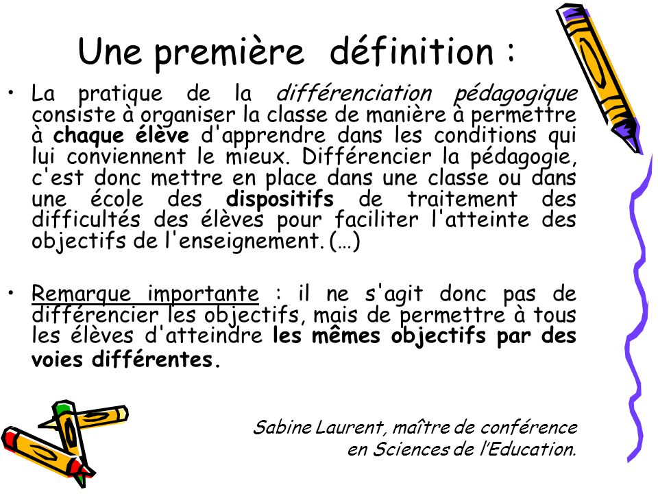 Une première définition :