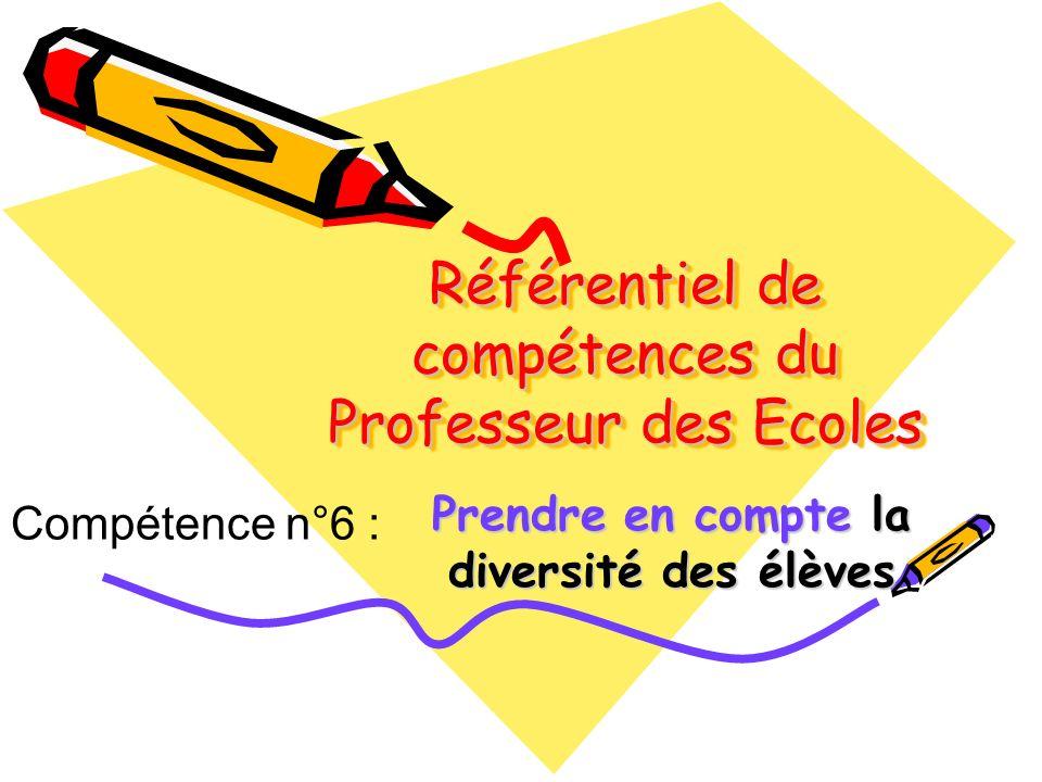 Référentiel de compétences du Professeur des Ecoles