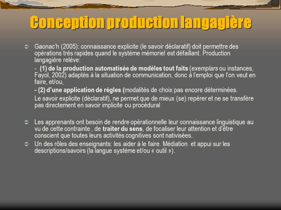 Conception production langagière