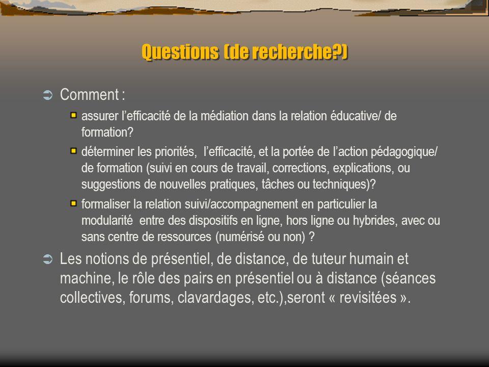 Questions (de recherche )