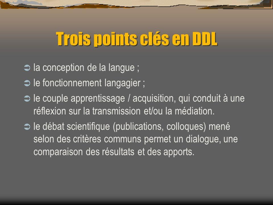 Trois points clés en DDL