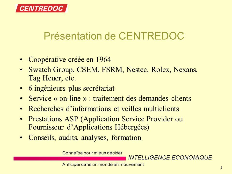 Présentation de CENTREDOC