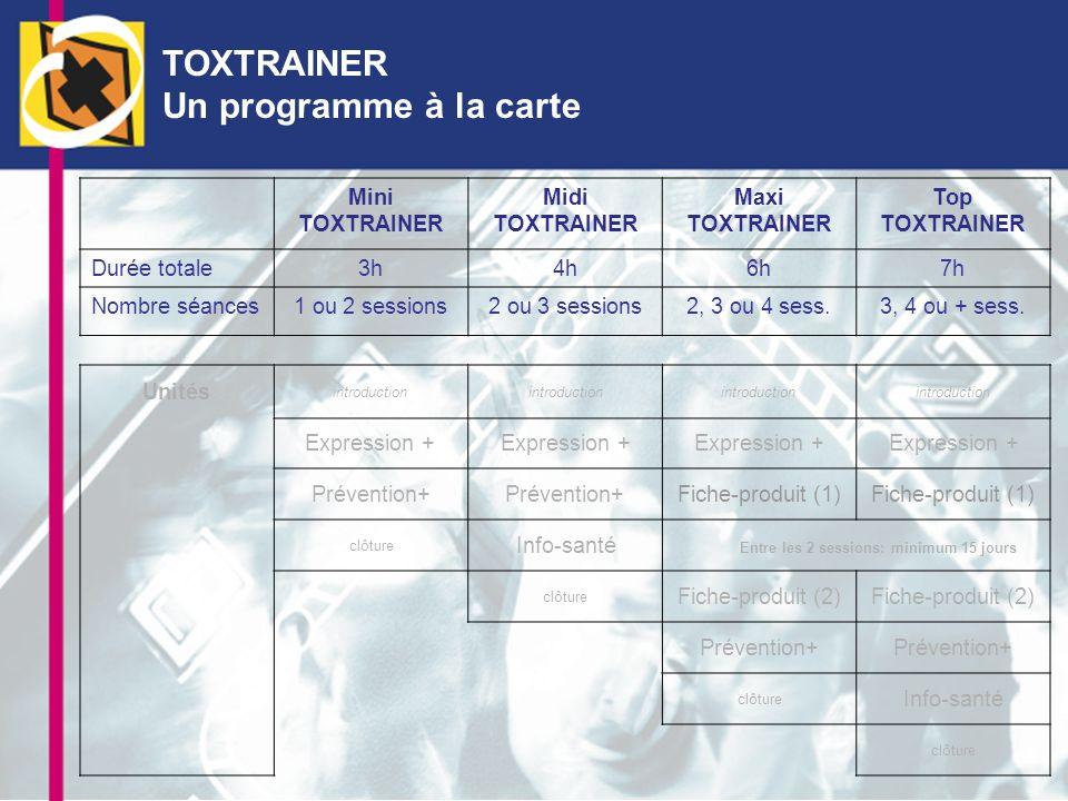 TOXTRAINER Un programme à la carte