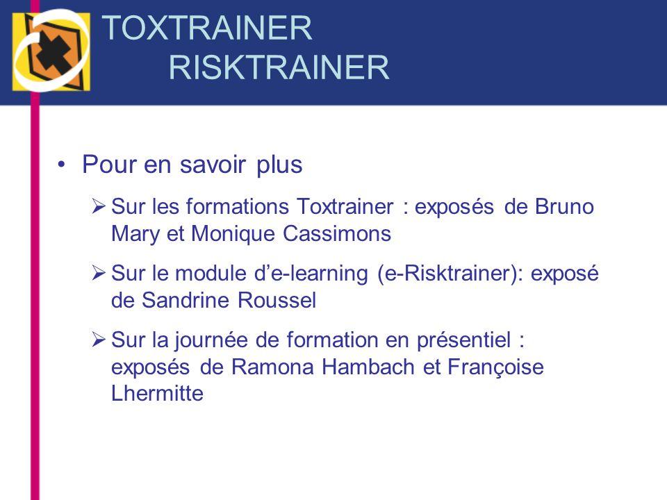 TOXTRAINER RISKTRAINER
