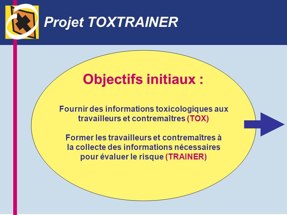 Projet TOXTRAINER Objectifs initiaux :