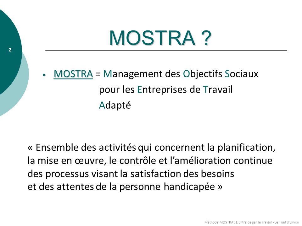 MOSTRA MOSTRA = Management des Objectifs Sociaux