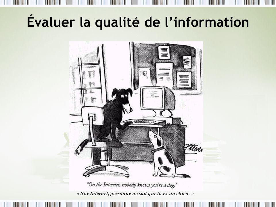 Évaluer la qualité de l'information