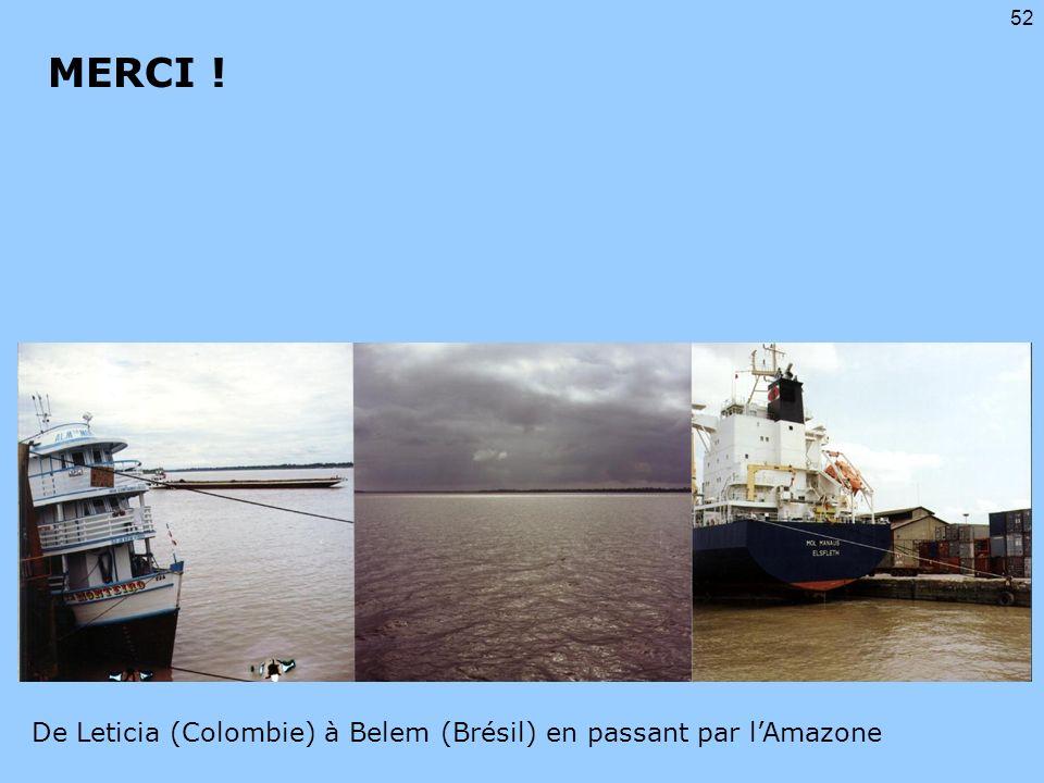 MERCI ! De Leticia (Colombie) à Belem (Brésil) en passant par l'Amazone