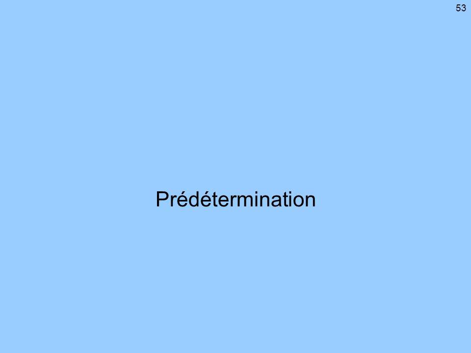 Prédétermination