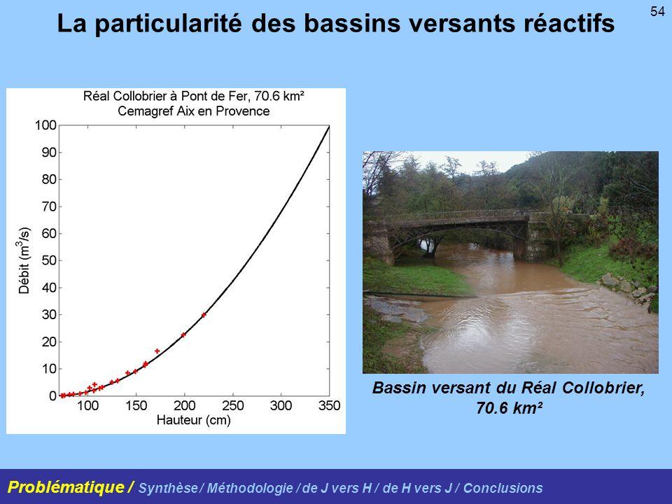 La particularité des bassins versants réactifs