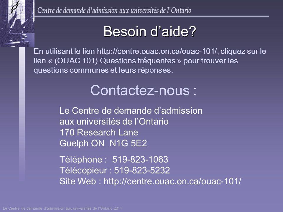 Besoin d'aide Contactez-nous :