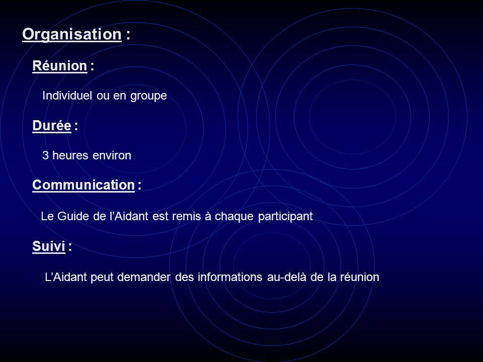 Organisation : Le Guide de l'Aidant est remis à chaque participant