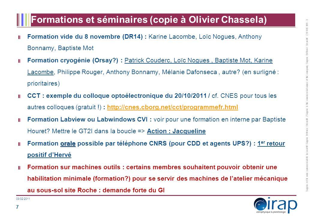 Problèmes / Discussions (CPS Groupes métiers 09/09/11)