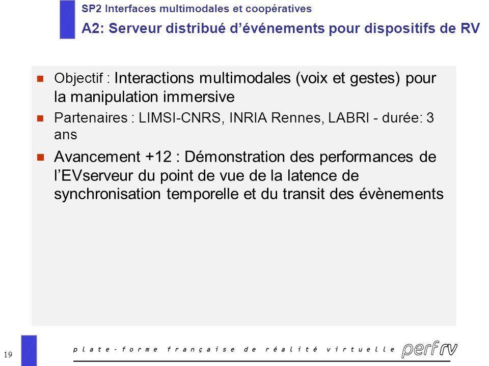 SP2 Interfaces multimodales et coopératives A2: Serveur distribué d'événements pour dispositifs de RV