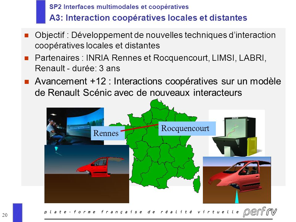 SP2 Interfaces multimodales et coopératives A3: Interaction coopératives locales et distantes