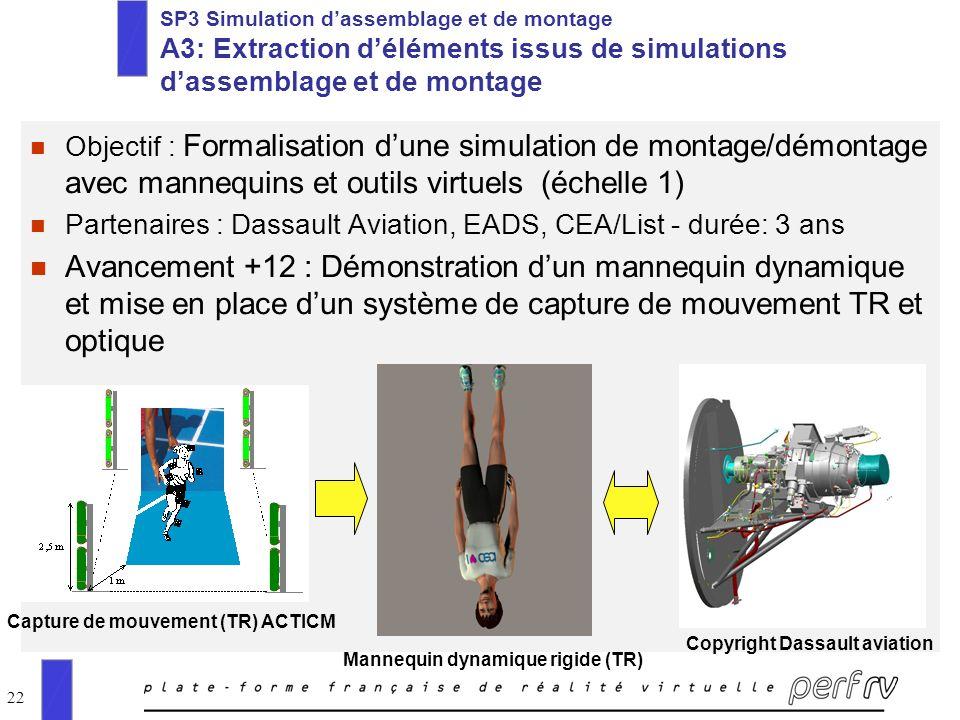 SP3 Simulation d'assemblage et de montage A3: Extraction d'éléments issus de simulations d'assemblage et de montage