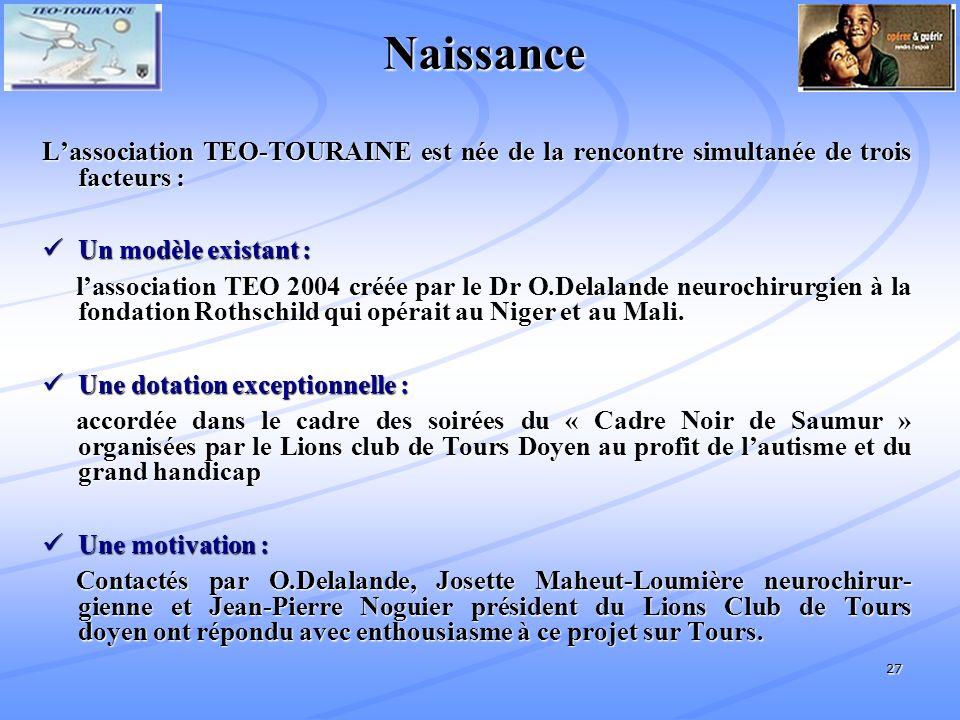 Naissance L'association TEO-TOURAINE est née de la rencontre simultanée de trois facteurs : Un modèle existant :