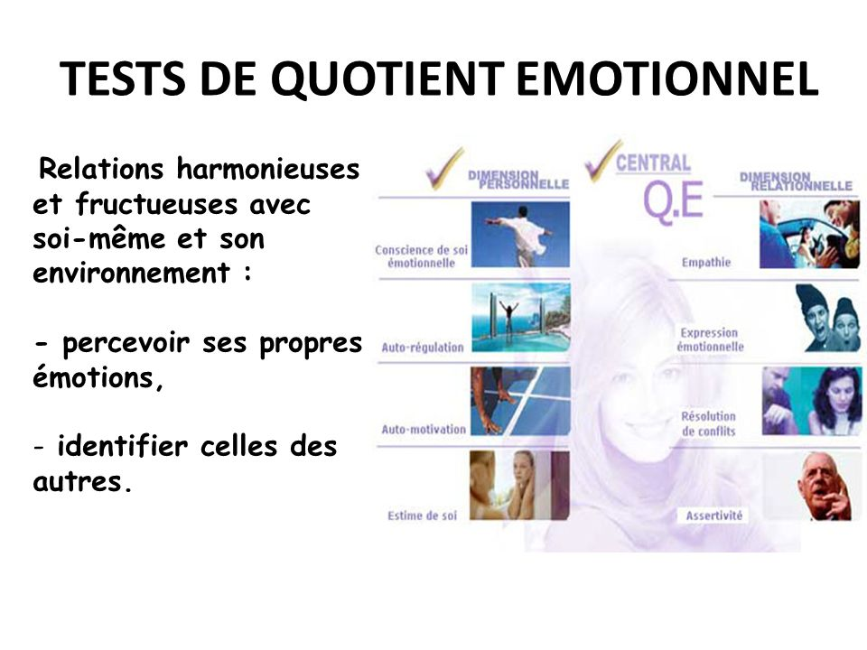 TESTS DE QUOTIENT EMOTIONNEL